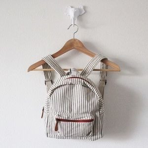 NWT Hearth & Hand Striped Mini Backpack Bag